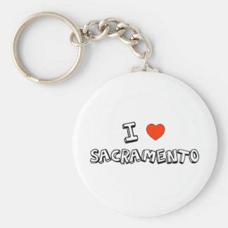 I Heart Sacramento Key Chain