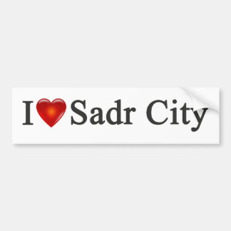"""I Heart Sadr City"" Bumper Sticker"