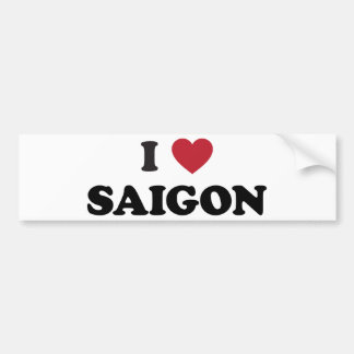 I Heart Saigon Vietnam Ho Chi Minh City Bumper Sticker