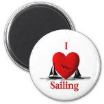 I Heart Sailing  ... blue Magnet