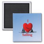 I Heart Sailing  ... blue Magnets