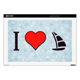 I Heart Sailing Laptop Decal