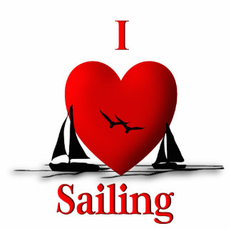 I Heart Sailing Standing Photo Sculpture