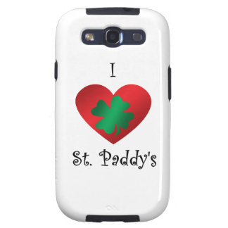 I heart Saint paddy s Samsung Galaxy S3 Covers