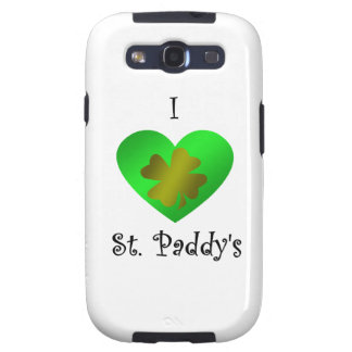 I heart Saint paddy s in gold and green Galaxy S3 Cover