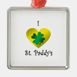 I heart Saint paddy's in green and gold Christmas Tree Ornaments