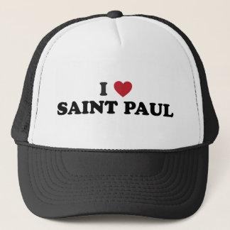 I Heart Saint Paul Minnesota Trucker Hat