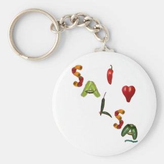 I Heart Salsa Keychain