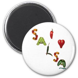I Heart Salsa Fridge Magnet