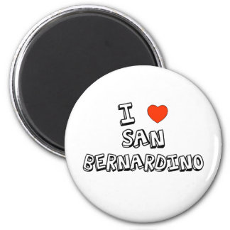 I Heart San Bernardino 2 Inch Round Magnet
