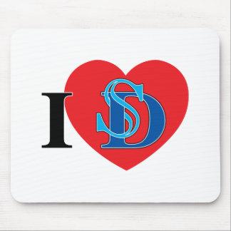 I Heart San Diego Mouse Pad