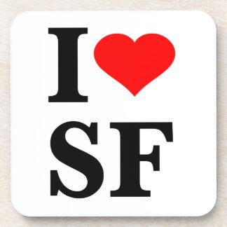 I Heart San Francisco Beverage Coasters