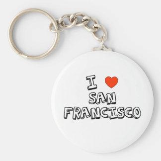 I Heart San Francisco Basic Round Button Keychain