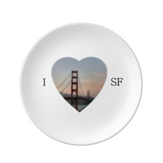I Heart San Francisco Plate