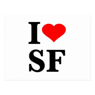 I Heart San Francisco Postcards