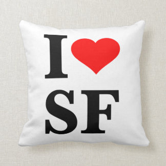I Heart San Francisco Throw Pillow
