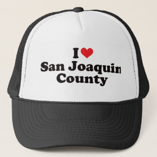 I Heart San Joaquin County Trucker Hat