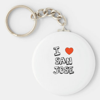 I Heart San Jose Basic Round Button Keychain