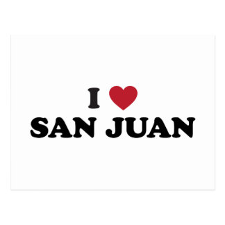 I Heart San Juan Puerto Rico Postcard