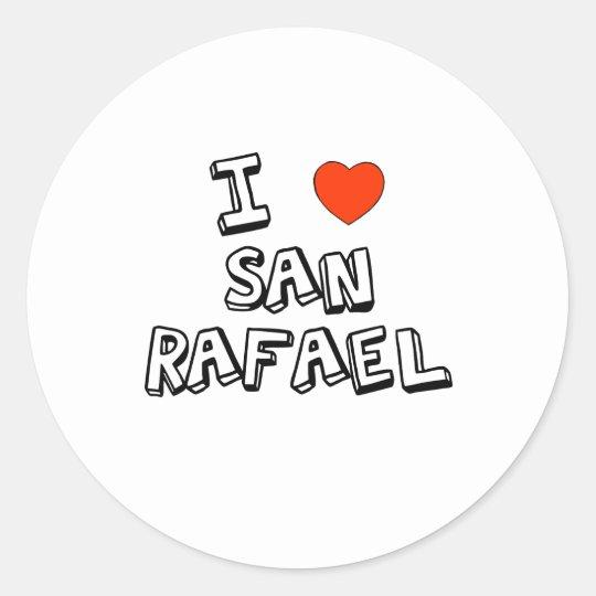 I Heart San Rafael Classic Round Sticker