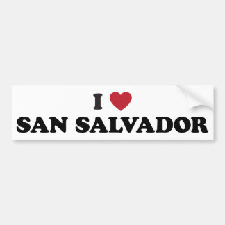 I Heart San Salvador El Salvador Bumper Sticker