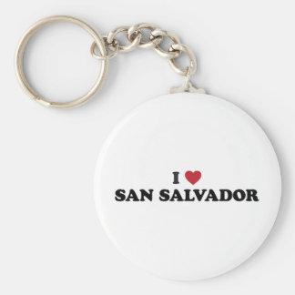 I Heart San Salvador El Salvador Basic Round Button Keychain