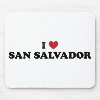 I Heart San Salvador El Salvador Mouse Pad