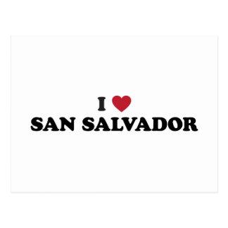 I Heart San Salvador El Salvador Postcard
