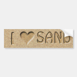 I heart Sand Bumper Sticker