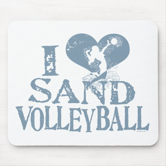 I Heart Sand Volleyball Mouse Pad