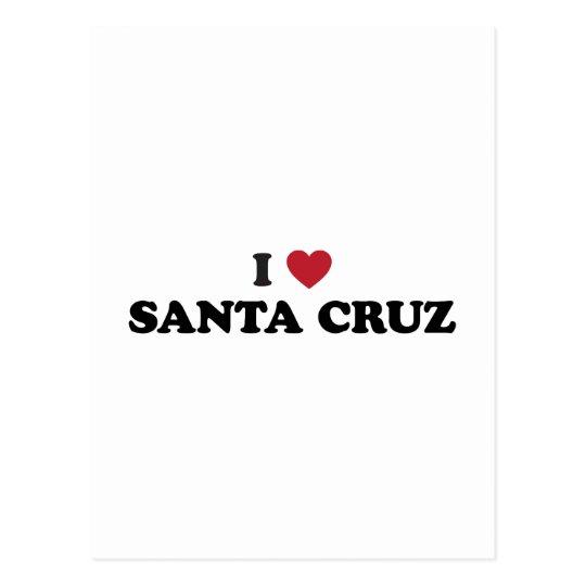 I Heart Santa Cruz Postcard