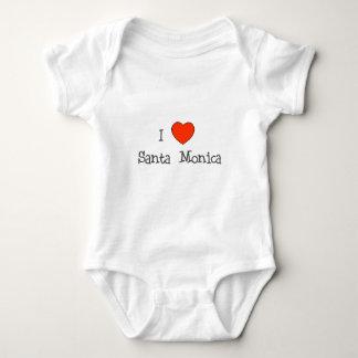 I Heart Santa Monica Baby Bodysuit