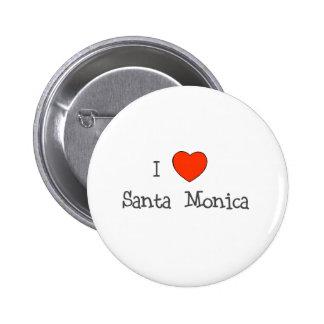 I Heart Santa Monica Pinback Button
