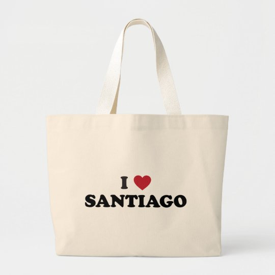 I Heart Santiago Chile Large Tote Bag