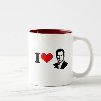 I HEART SANTORUM 2012 Two-Tone COFFEE MUG