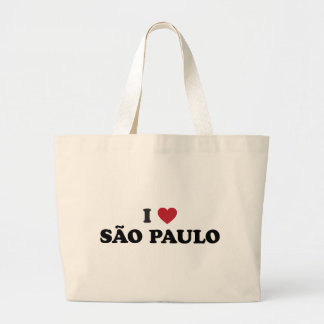 I Heart Sao Paulo Brazil Canvas Bags