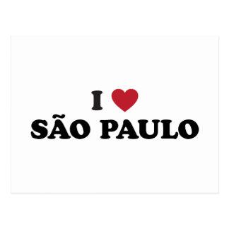 I Heart Sao Paulo Brazil Postcard