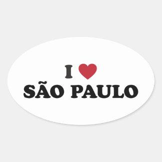 I Heart Sao Paulo Brazil Oval Sticker
