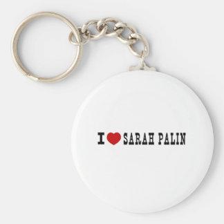 I (Heart) Sarah Palin Basic Round Button Keychain