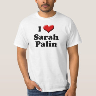 I Heart Sarah Palin T-Shirt, Big Red Heart Shirt