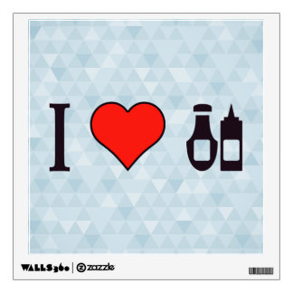 I Heart Sauce Wall Decal