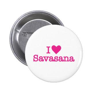 I heart savasana yoga corpse pose pinback button