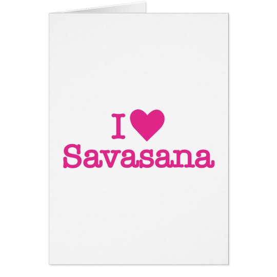 I heart savasana yoga corpse pose card