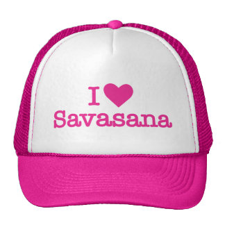 I heart savasana yoga corpse pose trucker hat