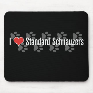 I (heart) Schnauzers Mouse Pad