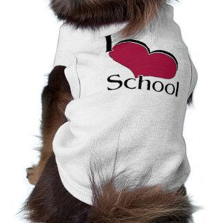 "I ""heart"" School Doggie Shirt"