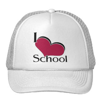 "I ""heart"" School Mesh Hat"