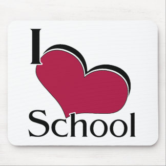 "I ""heart"" School Mouse Pad"