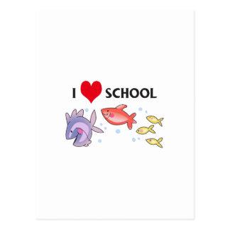 I HEART SCHOOL POSTCARD