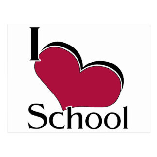 "I ""heart"" School Postcard"